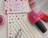 GK Nails | Coloured Star Nail Decals | Stars | Nail Decals | Waterslide nail decals | Nail Art | DIY Nail Art