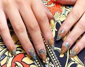 GK Nails Instant Manicure - Vintage Jaded London Press on Nails
