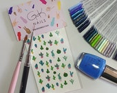 GK Nails | Cactus Nail Decals | Nail Art | Nail Decals | Waterslide Nail Decals | Cactus | DIY Nail art