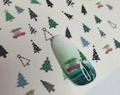 Christmas Tree | Festive | Nail Decals | Water slide Nail Art