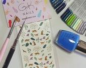 GK Nails | Jungle Nail Decals | Tropical Nail Art | Nail Art | Nail Decals | Jungle Theme | Waterslide Nail Decals