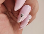 Halloween themed | Pink | Ghost | Press on Nails