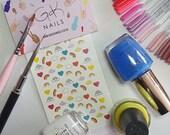 GK Nails | Rainbow Nail Decals | Waterslide Nail Decals | Nail Art | Nail Decals | Rainbows | DIY Nail Art