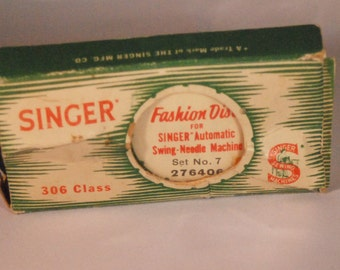 Singer Fashion Disks 306 class, 4 disks, set No. 7