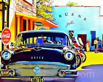 Gruene Hall Buick 56 Special Texas Giclee Print