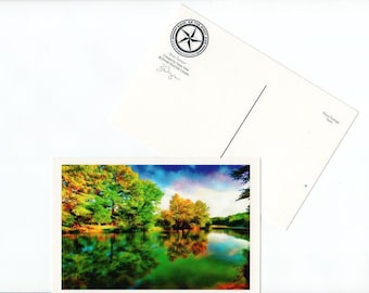 Postcard Texas Frio River Hill Country Card Paper Stationery