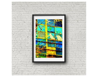Abstract Window Modern Texas Art Limited Edition Wall Art Giclee Print