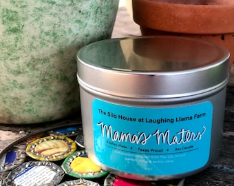 Mama's Maters Natural Soy Wax Tomato Leaf Candle