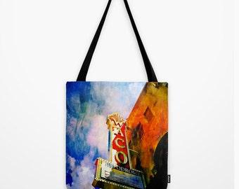 Tote Bag Waco Hippodrome Texas Theatre Iconic Landmark Waco Texas Art