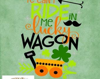 St. Patrick's Day Adhesive Vinyl Decal or DIY HTV Decal with Shamrocks/Wagon/Parade Sign/DIY Shirt/Bodysuit/Teacher Classroom/Baby Photos