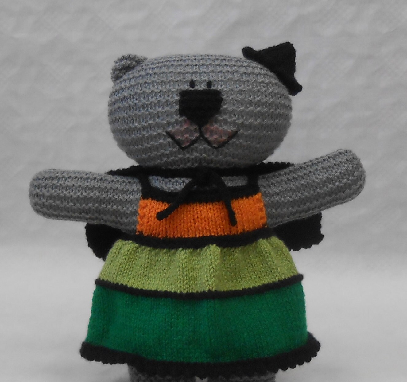 knit witch teddy bear costume pdf knitting pattern with