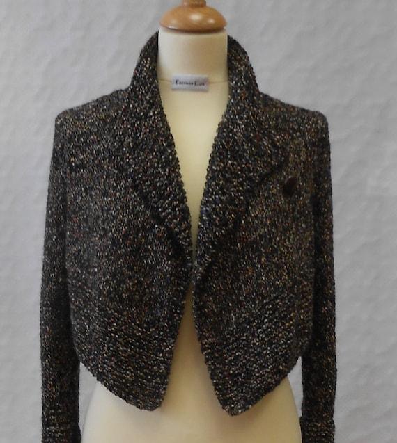 Waterfall cropped jacket knitting pattern PDF   Etsy