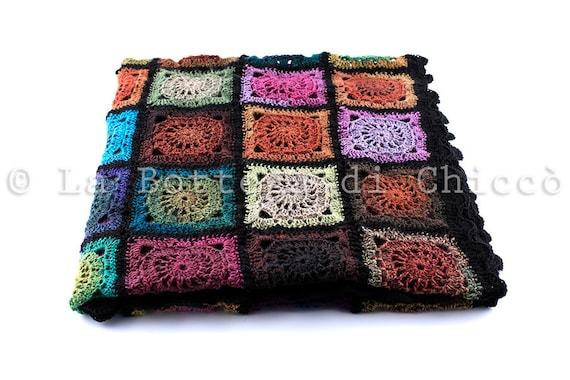 Handarbeit Häkeln Decke Decke Wolldecke Decke Quadrate Etsy