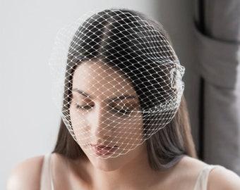 Birdcage veil, blusher wedding veil, wedding veil, bridal veil, birdcage veil for brides, netted veil HAYLEY BIRDCAGE