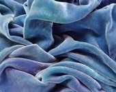 Swirling Sea - Luxurious Velvet Fabric yardage