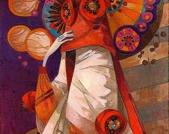 "David Galchutt - Her Night Out  Rug Hooking Pattern (17"" x 36"")"