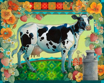 """Galchutt - IN THE PASTURE (35"""" X 28"""")"""