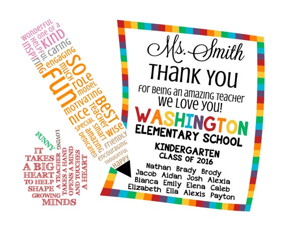 Teacher appreciation note word art digital image diy etsy image 0 altavistaventures Image collections