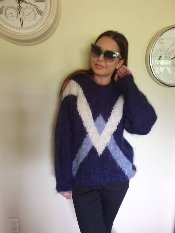 Mohair sweater kiwi wool sweater retro sweater boh