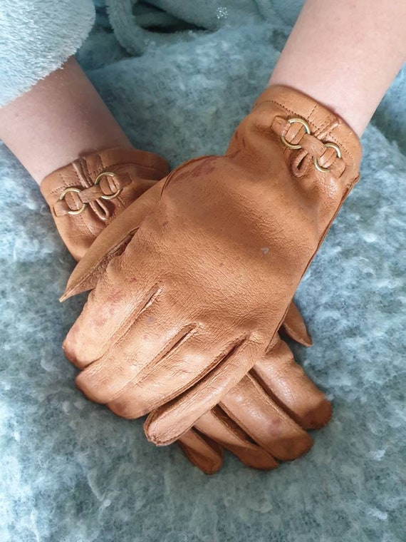Tan driving gloves retro driving gloves womens dri