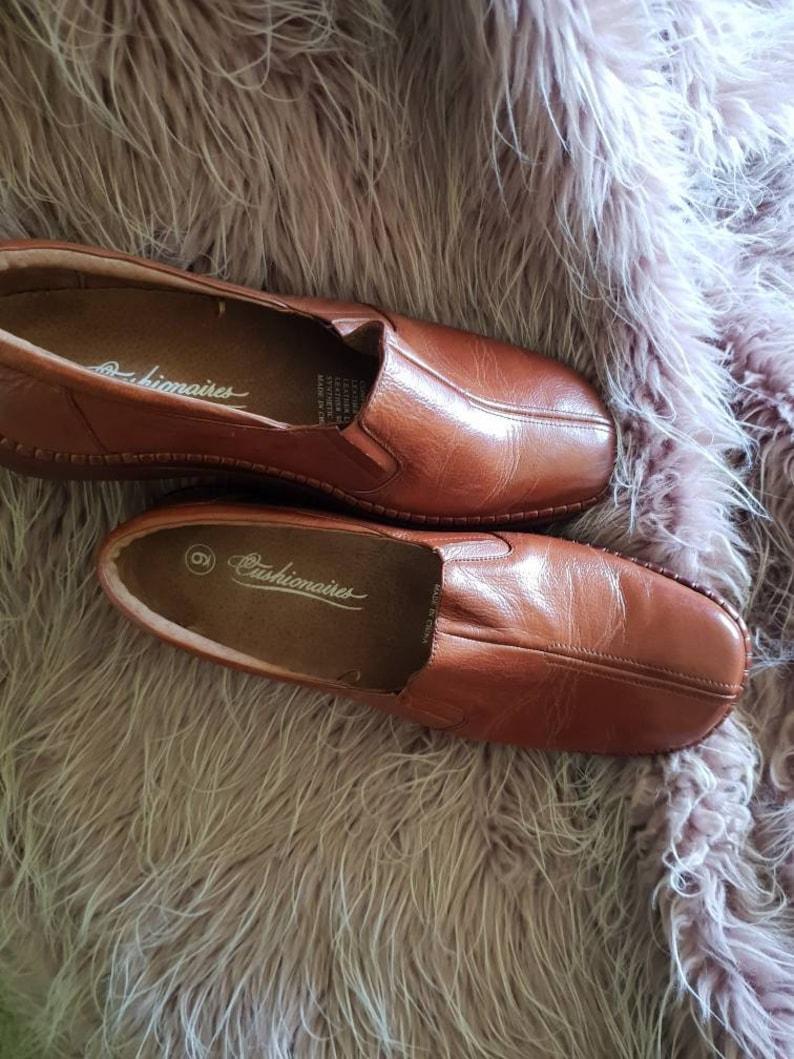 Leather shoes  boho leather shoes retro leather shoes   brown leather shoes,Woodstock brown leather shoes,leather flats sz9 leather shoes.