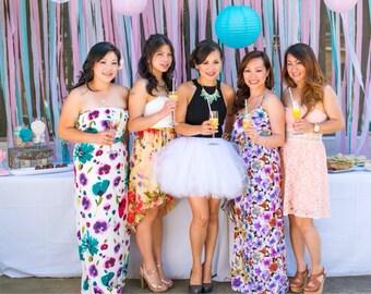any color adult tutu bridesmaid adult tutu wedding tutu white tutu weddings bachelorette party bridal shower