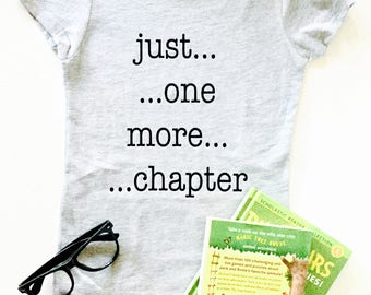 58ab3036449b85 Just One More Chapter T-Shirt - Youth Size | Child Reader Shirts | Book  Lovers Gifts | Shirts for Bookclubs | Reading Gifts | Kids who read