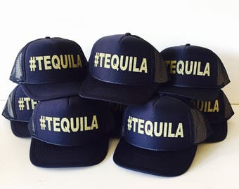 Tequila Trucker Hat | #tequila | #TEQUILA | Group Mexico Vacation Hats | Gifts for Tequila drinkers | Cabo Vacation Hats | Tequila