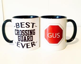 Best Crossing Guard Coffee Mug | Personalized Crossing Guard Gifts | Christmas Gifts for Crossing Guard | School Gifts | Gifts Under 20