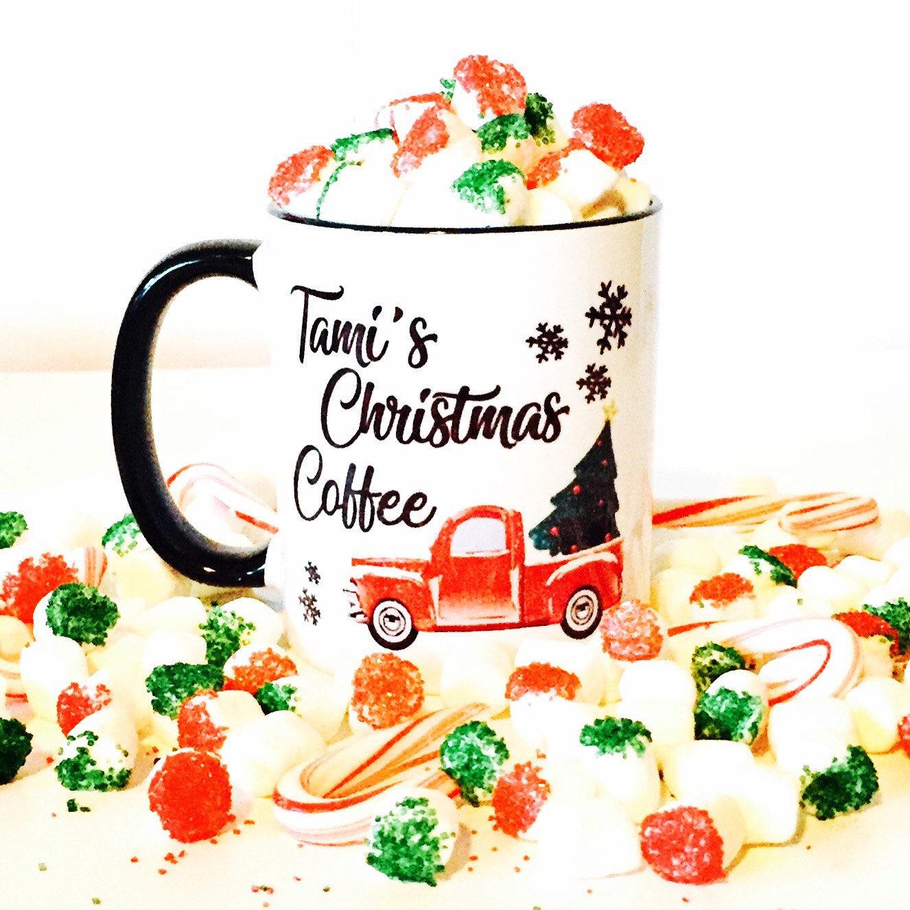 Christmas Coffee Mug Christmas Coffee Gift Personalized | Etsy