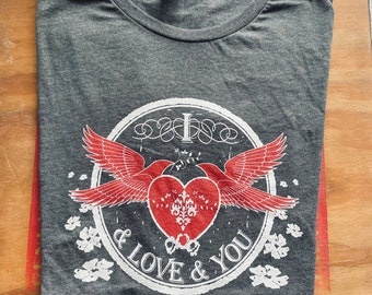 """Avett Brothers inspired """"I and Love and You"""" women's shirt"""