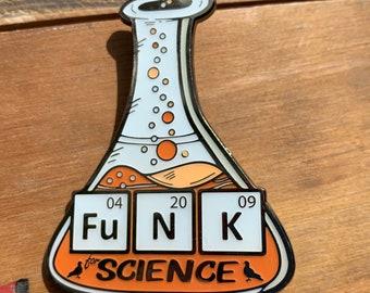 FuNK for Science Pin - Soft Enamel Pin - Pigeons P4 PPPP Fan Art - Pigeons Playing Ping Pong pin