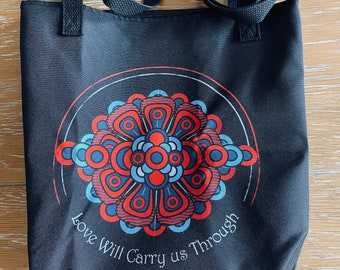 "Phish - Donut Flower ""Love Will See Us Through"" GOTF Tote Bag - Fan Art"