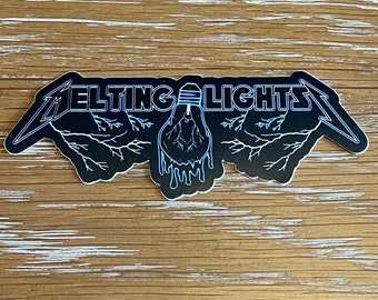 PPPP - Melting Lights Metal Mania - P4 Slaps & Magnets - Pigeons Playing Ping Pong Inspired Fan Art