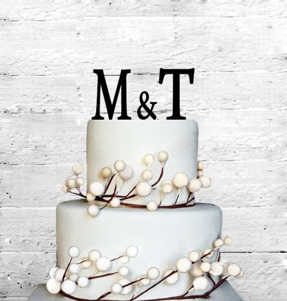 Mickey and Minni Wedding 2 with your initials Personalized Wedding Cake Topper