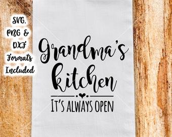 Chalkboard Svg Family Svg Grandma S Kitchen Svg Cutting Etsy