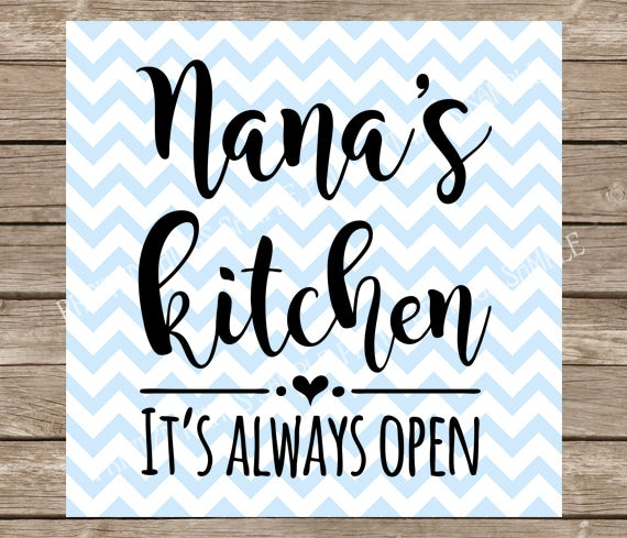 Nana Svg Kitchen Svg Grandma Svg Nanas Kitchen Svg Love Etsy