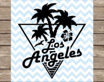 California SVG file Los Angeles svg, Summer svg, Vacation svg, Palm Tree svg, DXF Beach svg files Sillhouette Cricut Cut Files svg designs