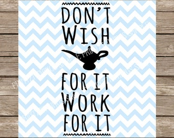 Disney SVG Motivational SVG Workout SVG Inspirational svg Fitness svg Aladdin Magic Lamp svg Genie Lamp dxf cricut silhouette cut file