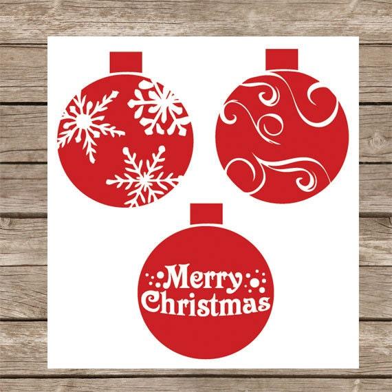 Merry Christmas Ornament Svg.Christmas Svg Cut File Christmas Ornaments Svg Winter Svg Cameo Cricut Silhouette Christmas Ornaments Svg Png