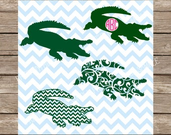 Alligator svg, Gator svg, Monogram svg, svg files for cricut, Crocodile svg, Alligator svg file, animal svg file, hunting svg svg silhouette