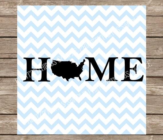 Home Svg Home Decor Svg USA Svg State Svg Patriotic Svg