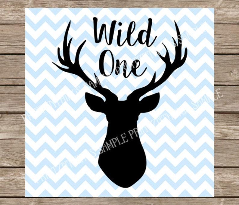 Wild One SVG Deer Stag Baby Boy Nursery Hunting svg dxf ...