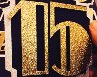 12 double sided Gatsby Table Numbers