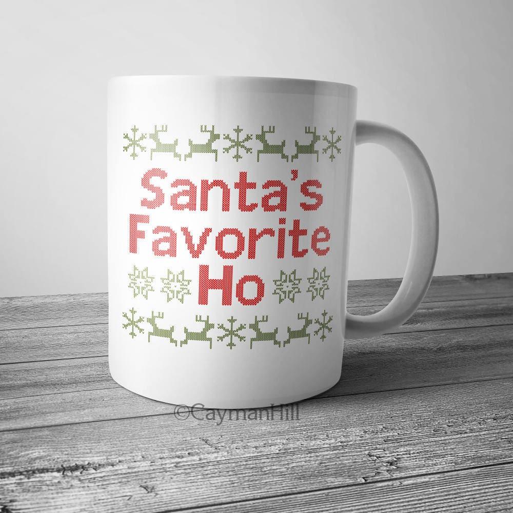 Lustige Weihnachten Kaffeebecher Sankt Lieblings Ho | Etsy