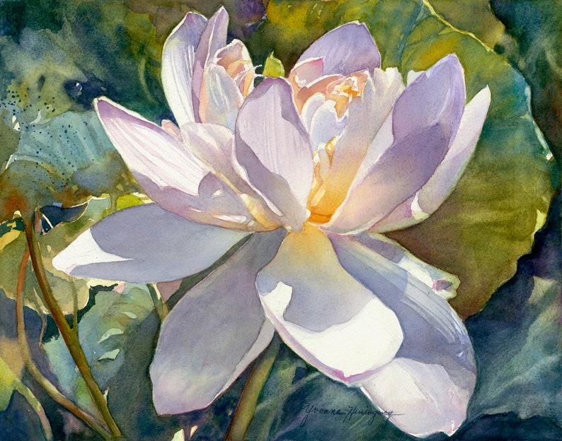 Lotus Flowers Fine Art Giclée Reproduction Of My Original Etsy