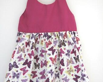Purple butterfly dress, butterfly print, butterfly gift, girls butterfly dress, baby dress, toddler dress, girls summer dress, baby girl
