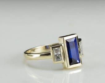 Antique Sapphire Ring Etsy