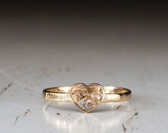 Heart ring gold