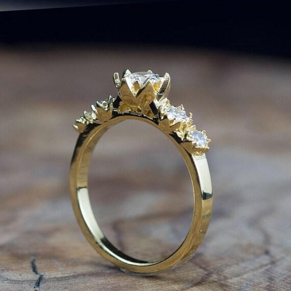 Fairy Tales Wedding Ring Sets: Diamond Engagement Ring Lotus Diamond Ring Fairy Tale Ring